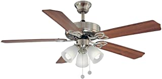 Hampton Bay Brookhurst 52 In. Indoor Brushed Nickel Ceiling Fan