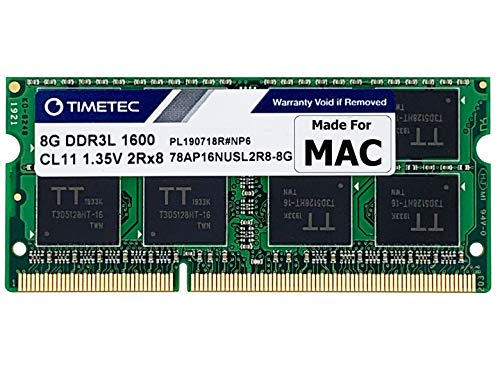 Timetec Hynix IC compatible with Apple 8GB DDR3 1600MHz PC3-12800 SODIMM Memory Upgrade For selected MacBook Pro, iMac,Mac mini/ Server