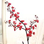 Little Story Artificial Silk Fake Flowers Plum Blossom Floral Wedding Bouquet Party Decor