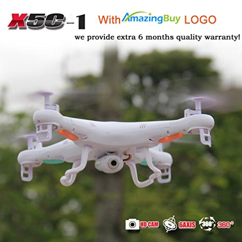 Amazingbuy - Syma X5C-1 2.4Ghz 6-Axis Gyro RC Quadcopter Drone UAV RTF UFO with HD Camera -Upgraded...