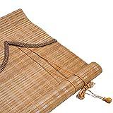 LXLA - Patio Gazebo Bamboo Shade 60cm / 80cm / 100cm / 120cm / 150cm Wide - Persianas de Madera con Rodillo, cortacircuitos, Levantamiento Manual (Size : W45cm X H150cm)