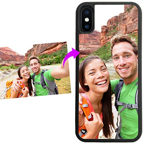 iPhone Xs MAX, Simply Customized Photo Phone Case Compatible with iPhone Xs MAX [6.5 inch] Personalized Your Picture or Image Printed On The Case Protective Case IPXSM