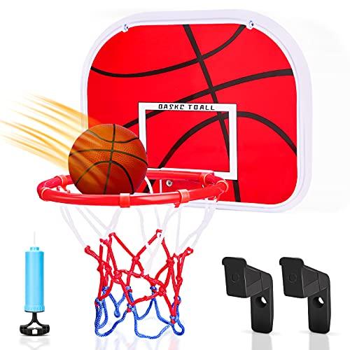 Dreamon Canasta Baloncesto Infantil Habitacion con Aros Balón y Bomba, Mini Juguetes Deportivos para Interiores y Exteriores