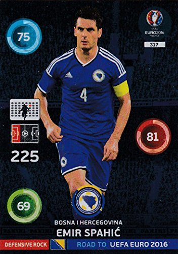 Panini Adrenalyn XL Road To UEFA Euro 2016–Émir Spahic défensive Rock carte