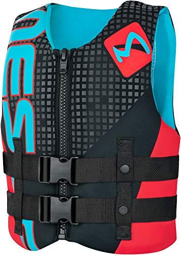 MESLE Neoprenweste Junior H011, 50-N Schwimmhilfe für Kinder bis 40 kg, blau-rot, Prallschutz-Weste, Wakeboard-Weste, Wasserski-Weste, Jetski-Weste