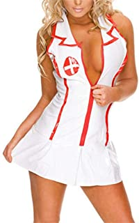 NAVARCH Sexy Nurse Fancy Dress Costume Womens Ladies Lingerie Naughty Nurse Costume Hem Do Fancy Dress Party Outfit Nurse ...