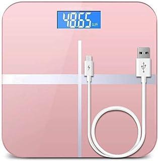 HJTLK Báscula Digital de baño, Báscula de baño Báscula de baño, LCD Smart Body Balance, Báscula Corporal máx. 180 kg, Negro