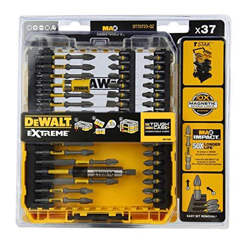 DEWALT DT70723-QZ Set of 37 Extreme Impact Screwdriver Bits for Drill