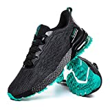 ZHELIYA Men's Air Cushion Running Tennis Shoes Light and Breathable Sports Fitness Walking Leisure Sports Tennis Shoes