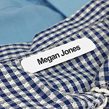 50 Printed Iron-on Name Labels/Tags for School Care Nursing or Camp