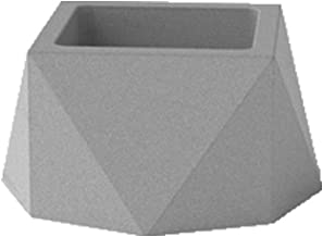 CHENTAOCS Lightweight Original Design Of Clear Water Concrete, Fleshy Flower Pots, Handmade Creative Polygon Cement Flower, Simple Personality, All Gray (Color : L)