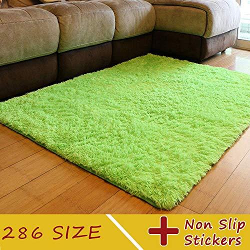 MODKOY Teppich für Waschmaschine Waschbar Pflegeleicht Prime Shaggy Flachflor rutschfeste Hochflor Langflor Flauschige Weiche Pastell Kollektion für Schlafzimmer Sofa 300x600cm Grün