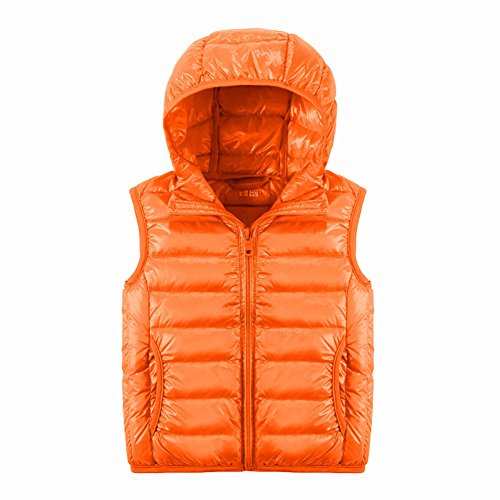ON Kinder Daunenweste Winterjacke leicht dünn Daunen Weste Jungen Mädchen Ärmellos down Jacket mit Kapuze