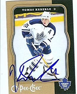 tomas kaberle autograph