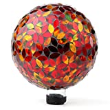 Lily's Home Colorful Mosaic Glass Gazing Ball, Designed with a Stunning Holographic Petal ...