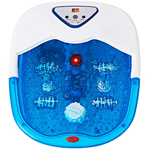 Giantex Portable Foot Spa Massager Heated Bath w/ Heating Infrared Ray LCD Display Temperature Control Bubbles Home Use Health
