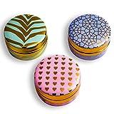 Edles Schmuckdosen Set aus Keramik– 3 Schmuckkästchen zur Aufbewahrung von Ringen, Ohrringen, Ketten und Accessoires