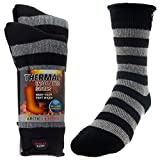 2 Pairs of Mens Thick Heat Trapping Insulated Boot Thermal Socks Pack...