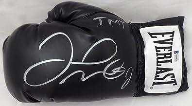 "Floyd Mayweather Jr. Autographed Black Everlast Boxing Glove LH""TMT"" Beckett BAS"