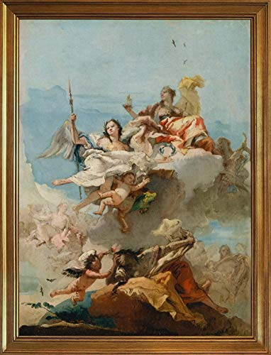 Wall Signs Notice Warning Sign Decor 16x12in,Classic Giovanni Battista Tiepolo Canvas Print Paintings Poster Home Decor Reproduction(Unknown 3)