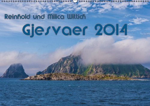 Gjesvaer 2014 (Wandkalender 2014 DIN A2 quer): Landschaft und wild lebende Vögel am nördlichen Ende Kontinentaleuropas (Monatskalender, 14 Seiten)