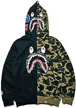 BAPE A Bathing Ape Camo Hoodie Sweatshirts Mens Shark Head Full Zip Jacket Coat