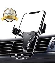 VANMASS スマホ 車載 ホルダー スマホほるだー 車 カー スマホホルダー カーマウント スマホスタンド 車 スマホステント スマホホルダー スマートフォンホルダー 車載スタンド 携帯ステント スマホスタンド 携帯ホルダー 重力で自動調節 アウトレット モバイルクリップ 挟み式 エアコン吹き出し口用 落下防止 アイフォン/スマートフォンホルダー 多機種対応 超安定