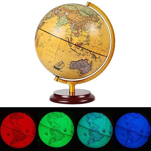 FACAI Globus 7 Arten Von LED-Lichtquelle 360 ° -Drehung Geeignet Für Heim Innendekoration Und Büro