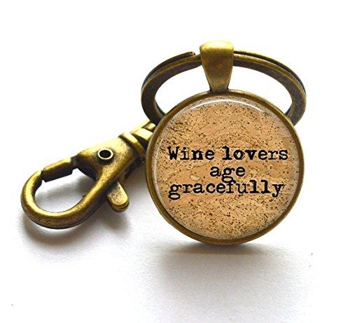Beautiful llavero amantes del vino, edad gracefully–Win Jewelry–Vino llavero–Regalo para amantes del vino y # xFF0C; as0254