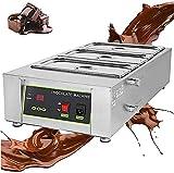 Ghongrm Máquina de Templado de Chocolate 1500W 30  ~ 80  Fuselador de Chocolate con 3 potes 1.6L 3 Cilindros Auto Temp Comercial HOGAR