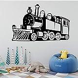 Steam Train Wandaufkleber Abnehmbare Wandtattoo Zug Wandaufkleber Dekoration Wohnzimmer Kinder Jungen Zimmer Wandbild Poster 58X91Cm