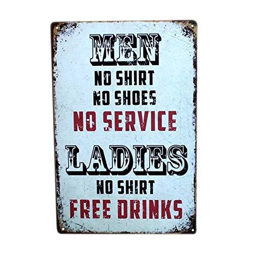 GUOYXUAN Tin Sign Retro Art Metal Plate Pub Bar Cafe Wall Poster Retro Home Decor 20 * 30cm