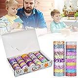 Goodtimera - 50 rollos de lentejuelas Washi Tape Set, Washi Masking Rubans decorativos para decoradores de bricolaje, álbumes de recortes, suministros escolares y fiestas