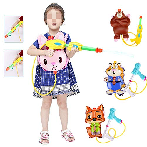 Draagbare Rugzak waterpistool voor Outdoor tuin gazon Beach Water Vechten, Handheld Pistool van het water met De Grappige Ontwerp van de Vorm, Perfect Water speelgoed cadeau,Bear