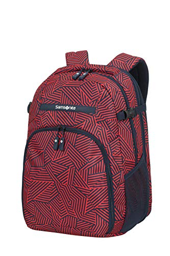 Samsonite Rewind - Laptop Rucksack L Erweiterbar, 45 cm, 34 L, rot (Capri Red Stripes)