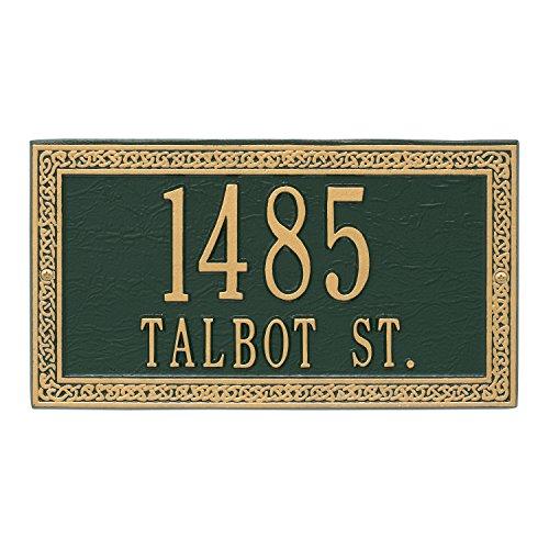 "Whitehall Custom Irish Celtic Cornerstone Address Plaque 13""W x 7""H (2 Lines)"