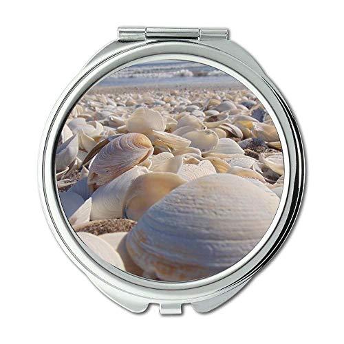 Yanteng Spiegel, Reisespiegel, Strandmuschelmeer, Taschenspiegel, tragbarer Spiegel