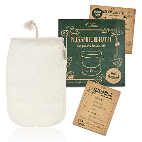 Lumaland Cuisine bolsa filtro leche vegetal.Tejido
