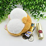 Corgi Dog Butt Small Coin Purse Cute Cartoon Corgie Mini Plush Zipper Stuffed Animal Money Wallet for Kids Girls Women Funny Birthday Thanksgiving Day Gift