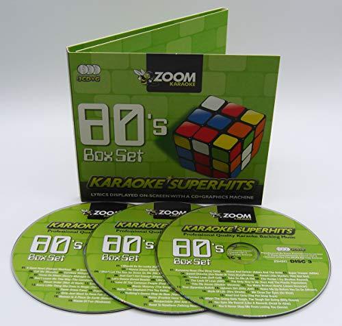 Zoom Karaoke CD+G - 80s Superhits 1 - Triple CD+G Karaoke Pack