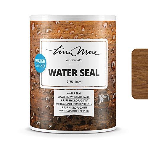 Wasserabweisende Lasur (Lack) mit Satinierung Oberfläche Wasserbasiertem - Wasserdichter Schutz mit Perleffekt.Ideal für Holz: Möbel, Tische, Stühle, Pergolen und Fenster (750 ml, Eiche)