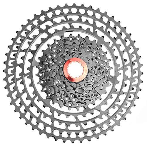 11 Velocidad Super Light Bicicleta Casete, 11-52T Bicicleta de montaña en Rueda Libre, un posicionamiento preciso, Accesorios de la Bicicleta Compatible con Shimano y Sram Gear Shift Kit