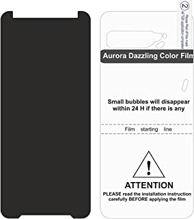 Asus ROG Phone 3 Black Nano Glass Transparent Screen protector With Back Colorful Clear TPU Gelatin Protector