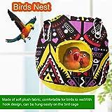 鳥の巣ハウスパロットぬいぐるみハンギングハンモックベッド暖かい抱擁洞窟、小屋テント玩具、インコオカメインコオウムConureラブバードbudgieにコンゴウインコEclectusオウムのための眠れるケージ lsmaa (Color : BlackL)