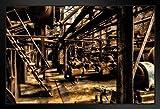 Poster/Kunstdruck, Stahlwerke, verlassene Fabrik,