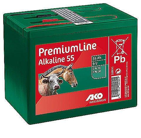 AKO Weidezaunbatterie Batterie f. Weidezäune Alkaline 9 V, 55 Ah k350611
