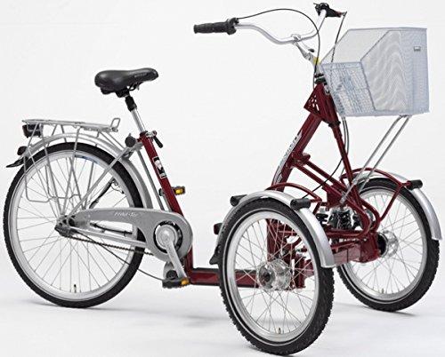 PFAU-TEC Dreirad Primo 20/26, weinrot, 7-Gang SRAM S7 RBN, Rahmenhöhe 45 cm