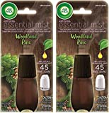 Air Wick Essential Mist Refill - Limited Edition Holiday Collection - Woodland Pine - Net Wt. 0.67 FL OZ (20 mL) Per Refill - Pack of 2 Refills