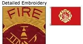 3x5 Fire Department Flag Double Sided Nylon Embroidered Firefighter Banner