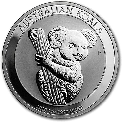 2020 Nueva Moneda de Plata Koala Australiano Moneda Chapada